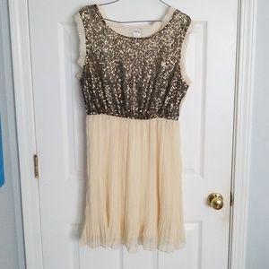 Champagne Gold Teen Dress